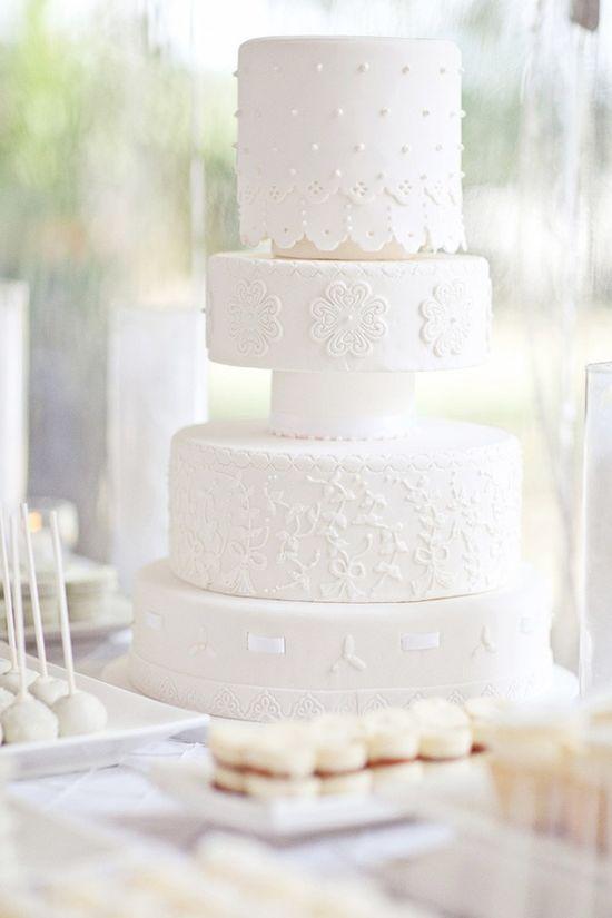 #White #Wedding Cakes  Twenty White Wedding Cakes