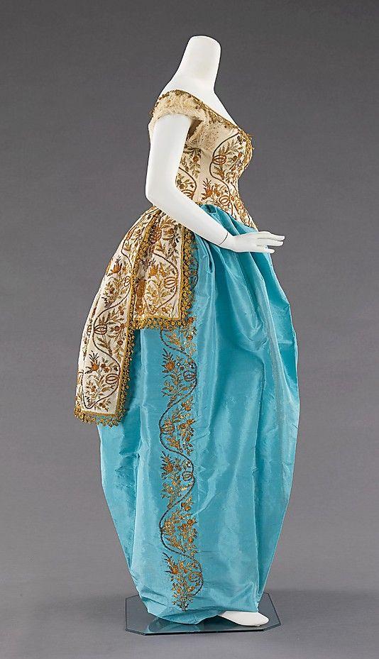 Designer:      Charles Frederick Worth (French (born England), Bourne 1825–1895 Paris)  Date:      ca. 1870  Culture:      French  Medium:      silk, metal