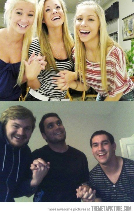 Guys should always retake girls' pictures…