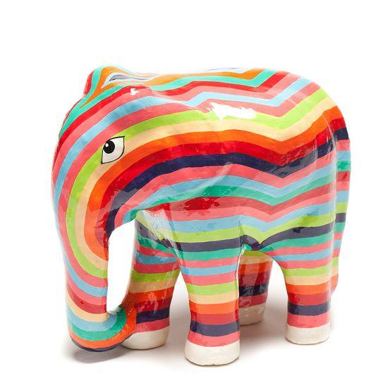 Cute painted elephant!