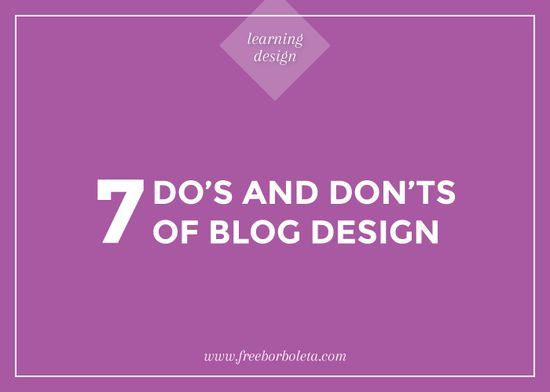 Blog Design Tips //