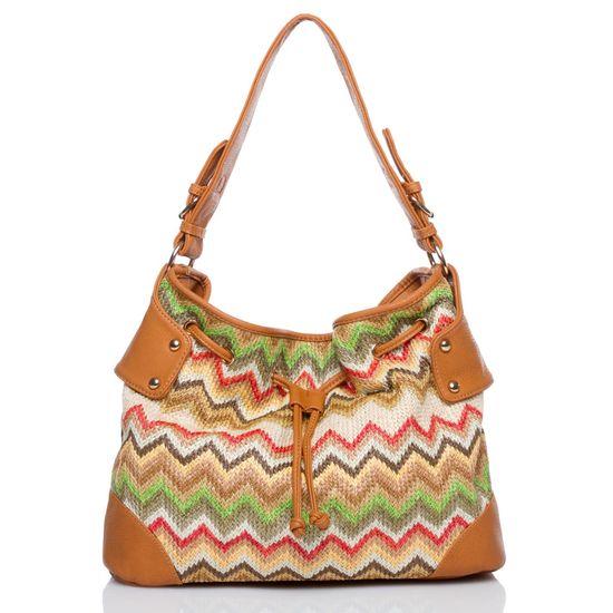 Colorful zig zag handbag