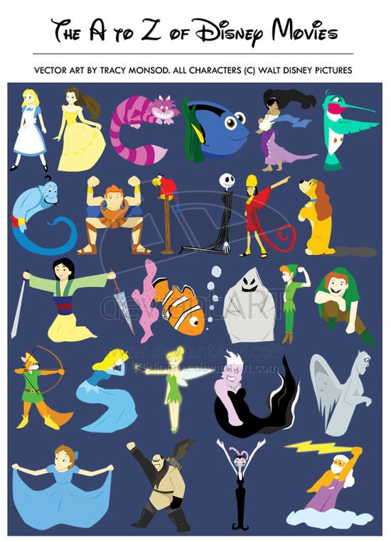 disney movies from A to Z