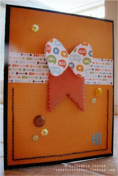 Handmade Card: Hi
