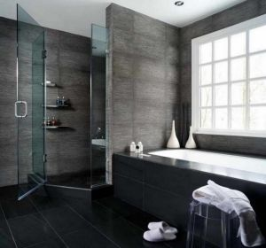 Small Bathroom Designs with Shower and Glass Door by HomeDecorBlog