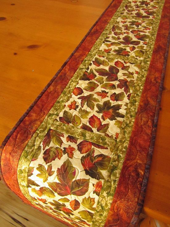 Handmade Quilted Fall Table Runner on The CraftStar @TheCraftStar #uniquegifts