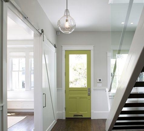 love that green door!