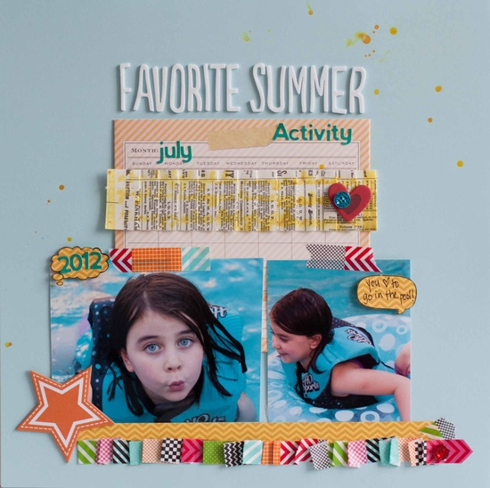 Favorite Summer Activity - Scrapbook.com