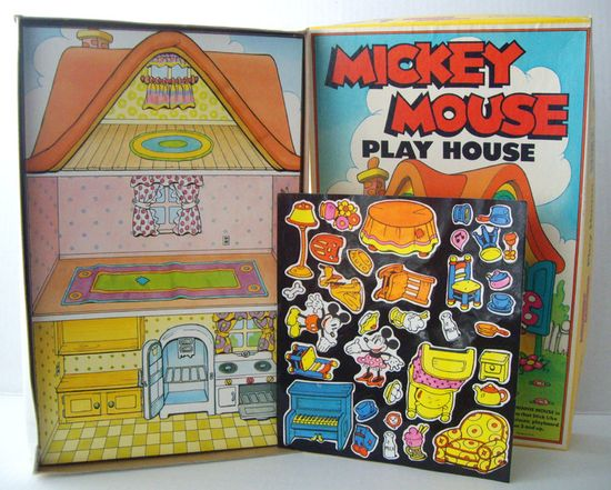 "Mickey Mouse Play House Colorforms - Disney - ""It's More Fun To Play The Colorforms Way"". $18.88, via Etsy."