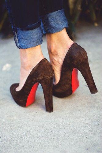 heels + cuffed jeans.