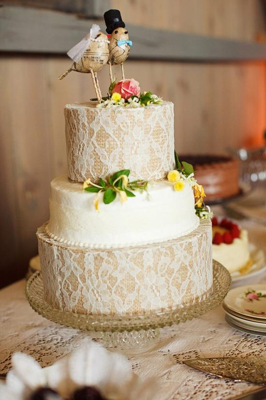 Lace Wedding cake - LOVE!