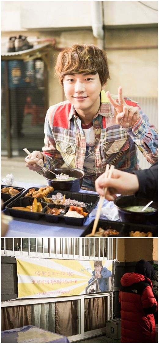 Yoon Si Yoon's fans gift 'Flower Boy Next Door' staff members with hot meals