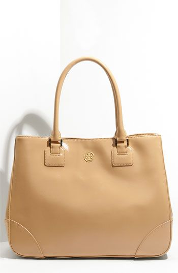 Tory Burch 'Robinson' Patent Leather Tote - Need this for the new job!
