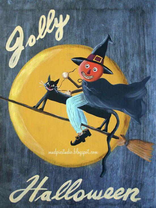 Halloween painting - digital print