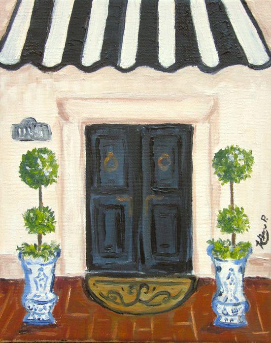 Lovely entry, original oil painting