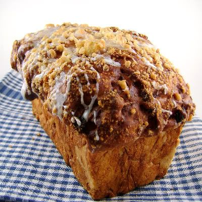 One Perfect Bite: Cinnamon Raisin Swirl Bread with Streusel Topping