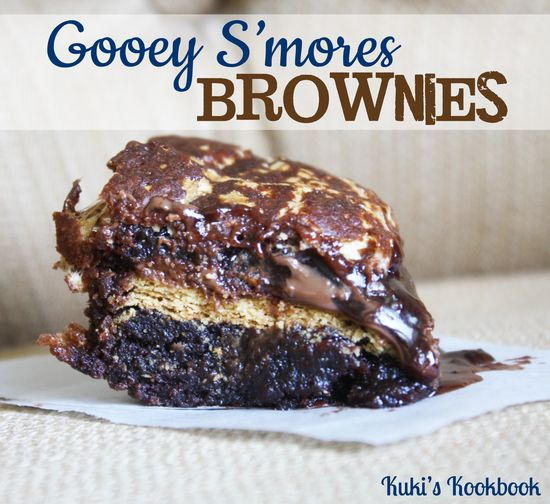 Val's Gooey S'mores Brownies on MyRecipeMagic.com #brownies #s'mores #dessert