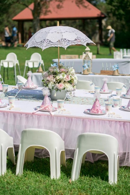 Ballerina Birthday Party via KarasPartyIdeas.com : Party area