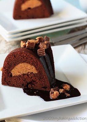 Chocolate & peanut butter bundt cake