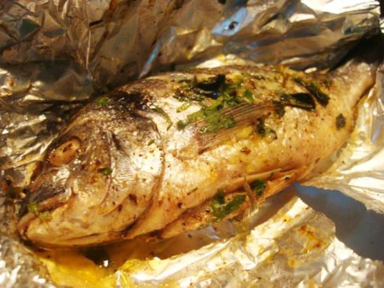 #Baked sea #bream #recipe #cooking #recipes #fish