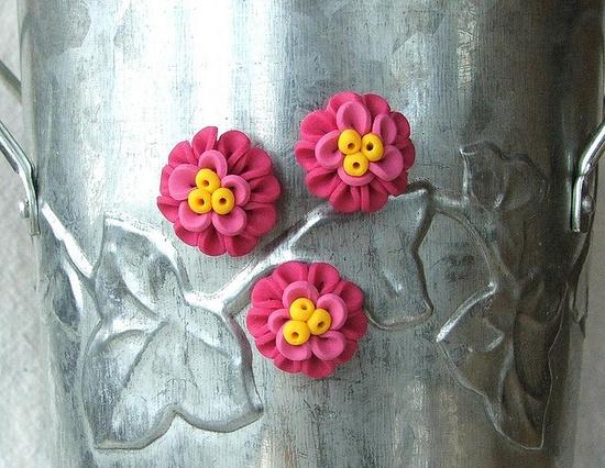 Handmade Flower Magnets