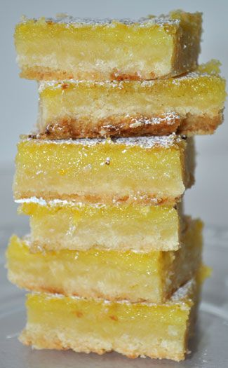 Lemon Bars with a Coconut Crust.