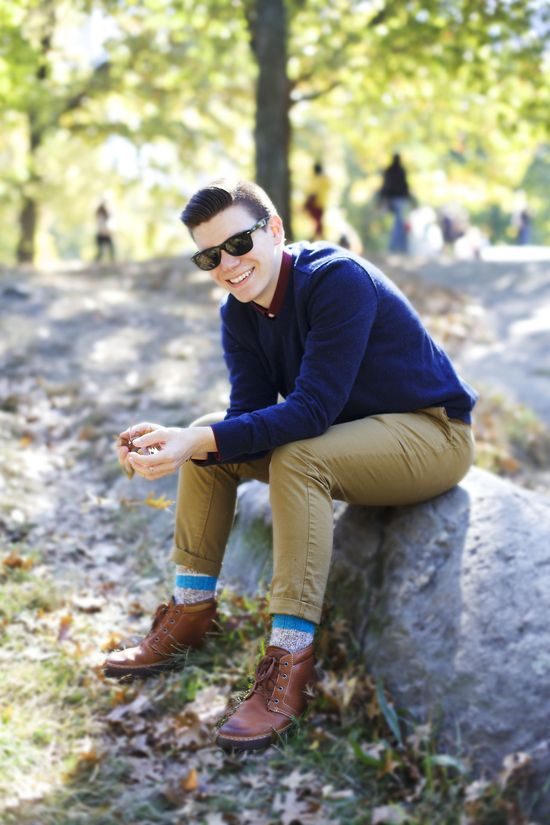 Men's Fashion Blogger, @Ryan Sullivan Sullivan Sullivan Charchian rocks our Skinny Khaki Pants