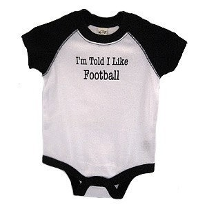 I'm Told I Like Football baby and toddler shirt by threewagons, $15.00