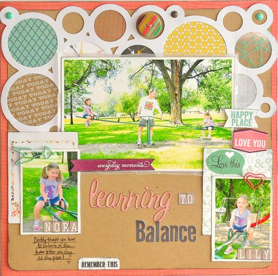 Learning to Balance by Designer Jill Cornell - Scrapbook.com