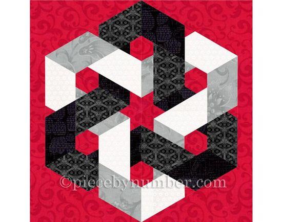 Hexagonia quilt block pattern paper pieced quilt pattern | Etsy