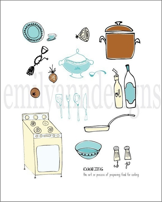The Art of Cooking Print. $14.00, via Etsy.