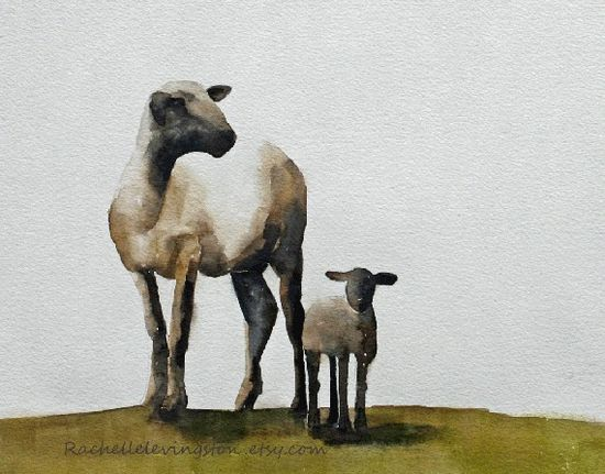 Wall Decor Watercolor Sheep Print Toy tilde watercolor Watercolor Painting Lamb watercolor Sheep Poster Giclee wall print