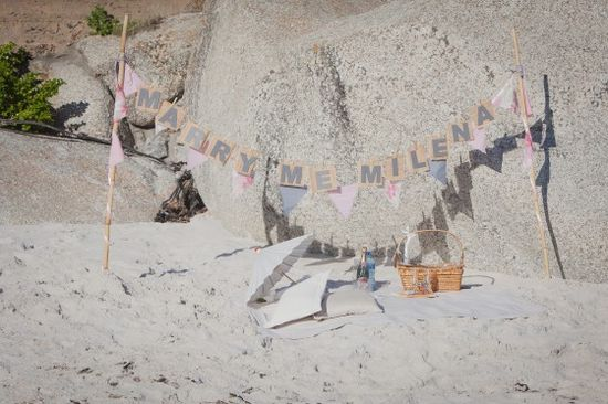 Beautiful Beach Proposal in Cape Town