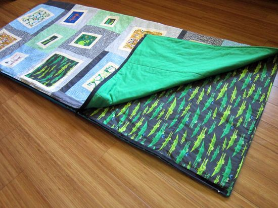 quilted sleeping bag tutorial...