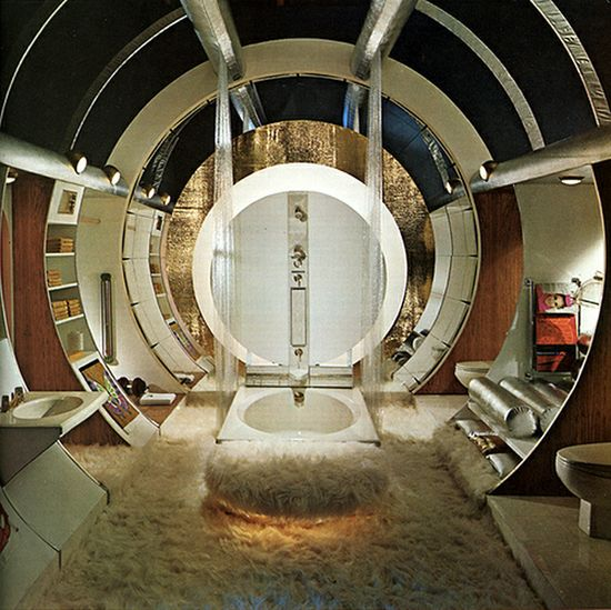 Unconventional, circular interior design.