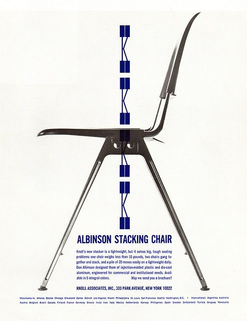 Knoll Ad 1965 by sandiv999, via Flickr