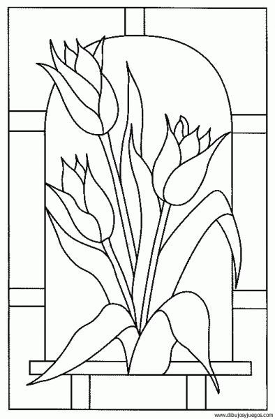 dibujo-flores-tulipa