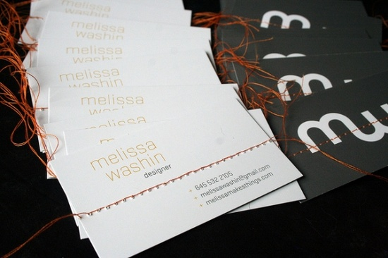 Sewn business cards #business #card #sewn #branding
