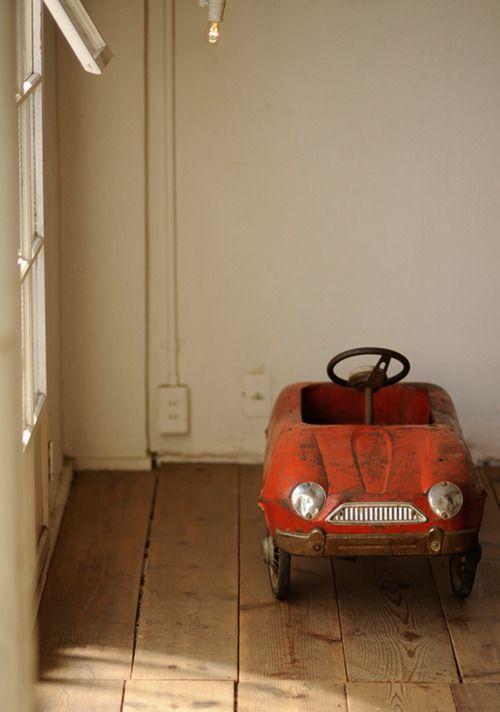 Vintage red toy car