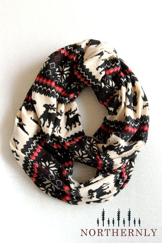 Nordic Scarf, Sweater Knit Infinity Scarf. So fun!