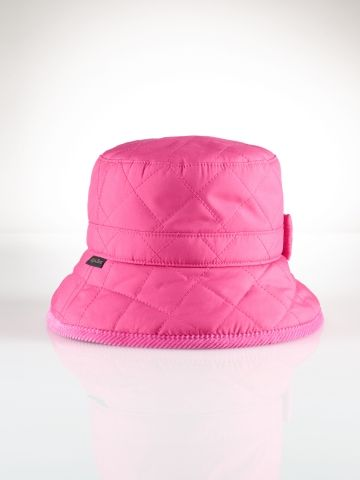 Cotton Quilted Rain Hat - Infant Girls Accessories - RalphLauren.com