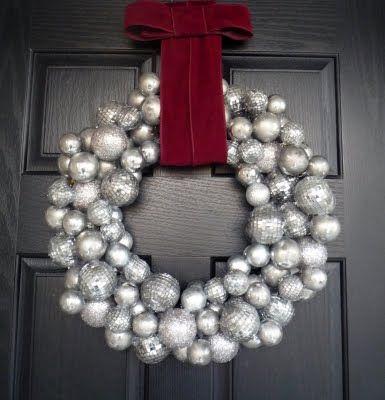 Silver Christmas Wreath.