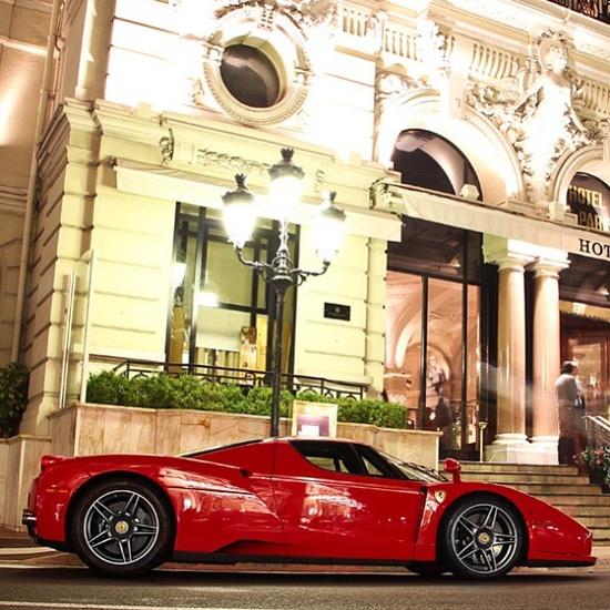 Ferrari Enzo in front of Hotel De Paris. Oh la la!