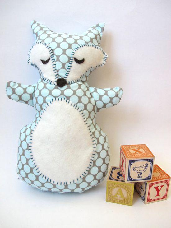 sleepy fox softie