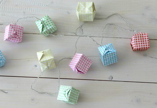 DIY: origami fairy lights