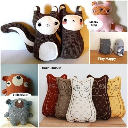 Linen toys by Sleepy King...my daughters would love these!