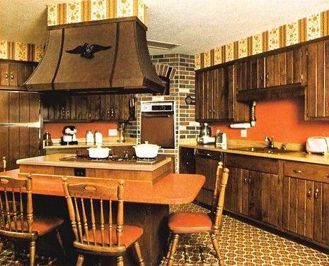 1970's kitchen...burnt orange and avocado green were everywhere!