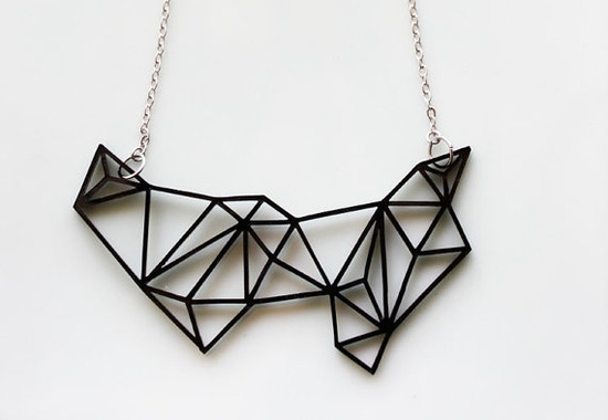 Geometric Prism Necklace $26.99 #jewelry #geometric #necklace