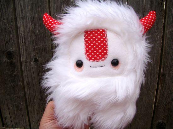 cute monster plush toy, stuffed Yeti