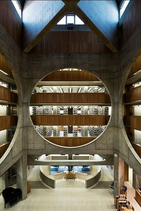 Atrium. Louis Kahn, Exeter Library. Exeter, New Hampshire, 1972.. Photo by Hassan Bagheri